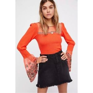 NWT Free People High Tides Ribbed Mesh Top